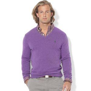 Polo Ralph Lauren Merino Wool Purple Sweater 2XLT